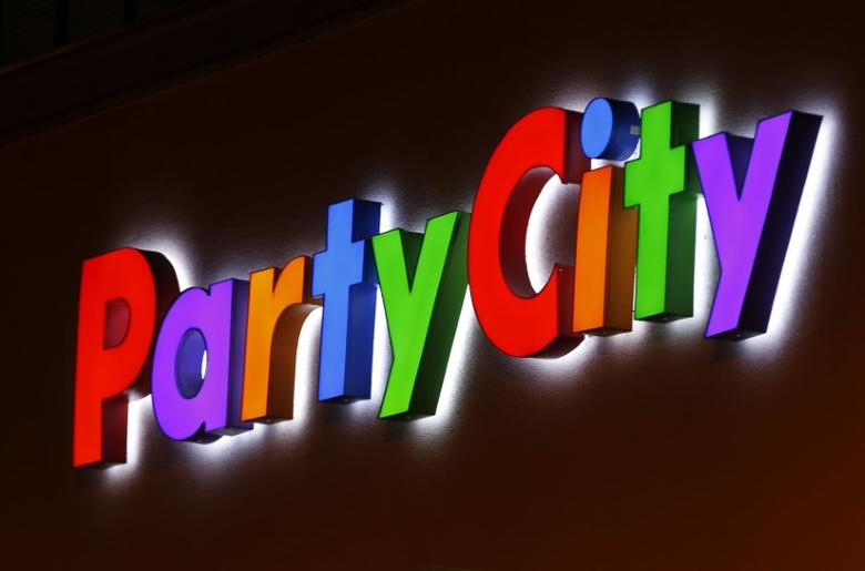 A Party City store sign in seen in Encinitas, California March 9, 2015.     REUTERS/Mike Blake