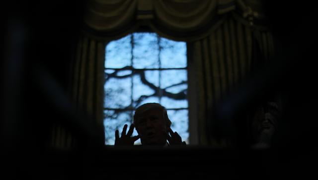 U.S. President Donald Trump speaks during a Reuters interview in the Oval Office at the White House in Washington, U.S., April 27, 2017. REUTERS/Carlos Barria