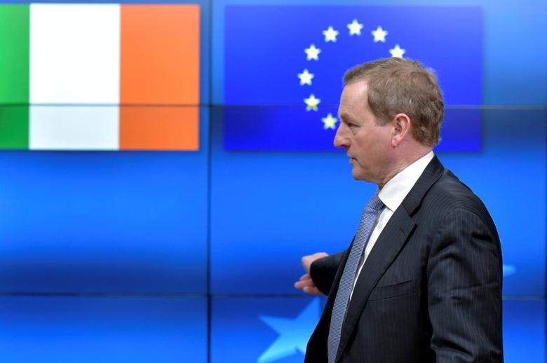 FILE PHOTO - Irish Prime Minister Enda Kenny leaves the European Council after a meeting with EU Council President Donald Tusk in Brussels, Belgium, March 2, 2017. REUTERS/Eric Vidal