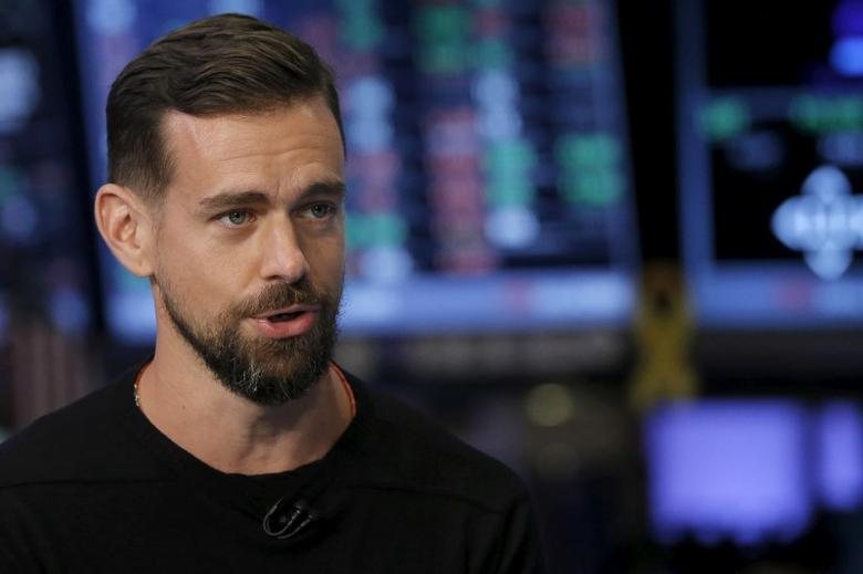 File Photo: Jack Dorsey, CEO of Square and CEO of Twitter, speaks during an interview November 19, 2015.      REUTERS/Lucas Jackson/Files