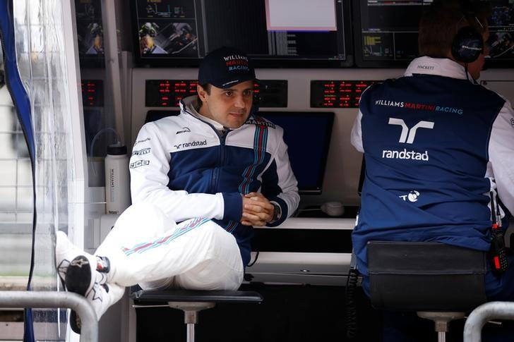 Formula One - F1 - Chinese Grand Prix - Shanghai, China - 7/4/17 - Williams driver Felipe Massa of Brazil sits at the Shanghai International Circuit. REUTERS/Aly Song