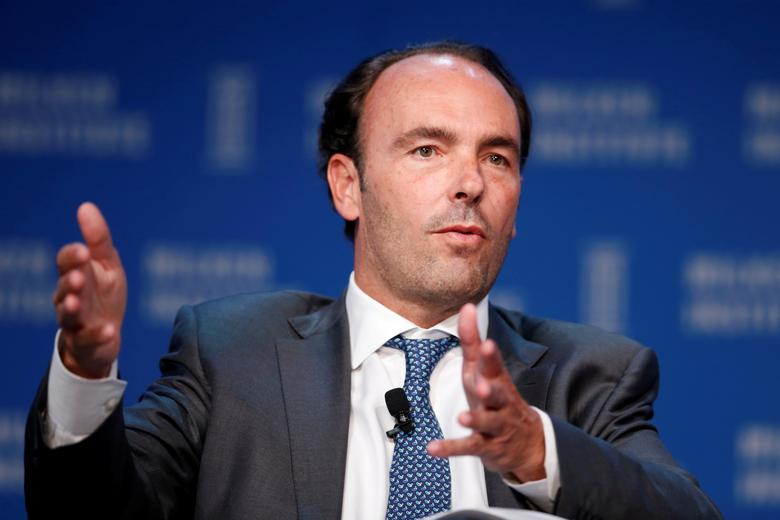 FILE PHOTO: Kyle Bass, Chief Investment Officer of Hayman Capital Management, speaks at the Milken Institute Global Conference in Beverly Hills, California, U.S., May 4, 2016. REUTERS/Lucy Nicholson/File Photo