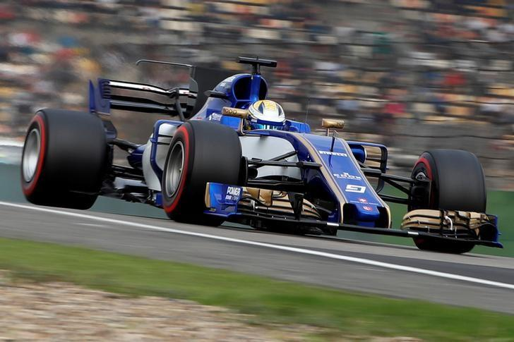 Formula One - F1 - Chinese Grand Prix - Shanghai, China - 08/04/17 - Sauber driver Marcus Ericsson of Sweden drives during the qualifying session at the Shanghai International Circuit. REUTERS/Aly Song