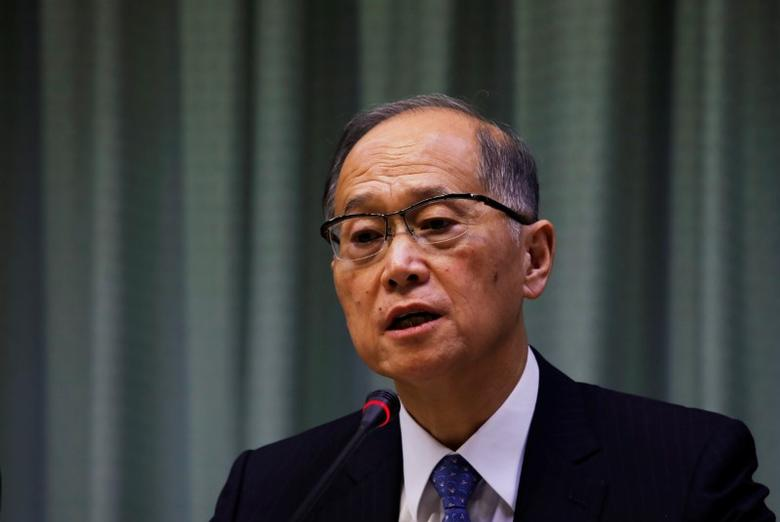 FILE PHOTO: Taiwanese Minister of Foreign Affairs David Lee attends a news conference after Taiwan was not invited to the assembly meeting of a United Nations aviation agency, in Taipei, Taiwan September 23, 2016. REUTERS/Tyrone Siu