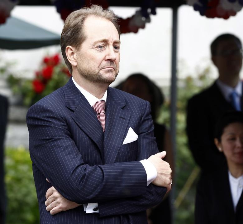 Kjell Inge Roekke attends a Fourth of July celebration at the U.S. Ambassador's residence in Oslo June 20, 2012. REUTERS/Lise Serud/NTB Scanpix