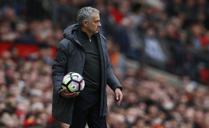 Britain Football Soccer - Manchester United v Swansea City - Premier League - Old Trafford - 30/4/17 Manchester United manager Jose Mourinho Action Images via Reuters / Jason Cairnduff Livepic