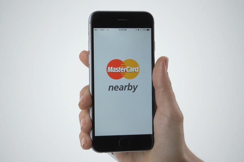The MasterCard Nearby app.    REUTERS/Courtesy MasterCard