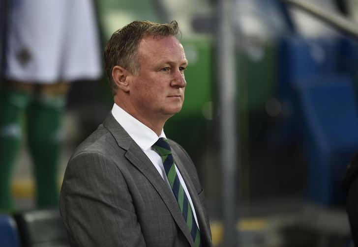 Football Soccer - Northern Ireland v Norway - 2018 World Cup Qualifying European Zone - Group C - Windsor Park, Belfast, Northern Ireland - 26/3/17 Northern Ireland manager Michael O'Neill  Reuters / Clodagh Kilcoyne Livepic/File Photo
