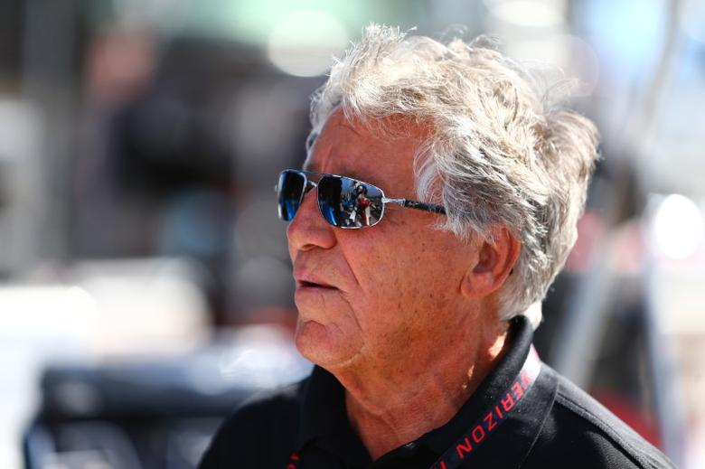 Apr 28, 2017; Avondale, AZ, USA; IndyCar Series former driver Mario Andretti during practice for the Desert Diamond West Valley Phoenix Grand Prix at Phoenix International Raceway. Mandatory Credit: Mark J. Rebilas-USA TODAY Sports