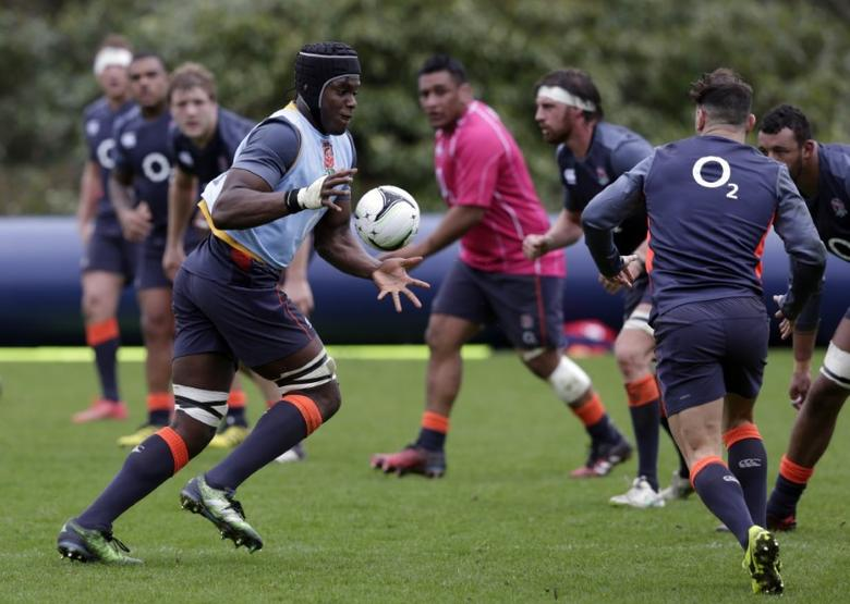 Britain Rugby Union - England Training - Pennyhill Park - 14/3/17 England's Maro Itoje during training Action Images via Reuters / Henry Browne Livepic