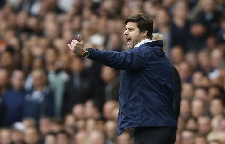 Britain Football Soccer - Tottenham Hotspur v Arsenal - Premier League - White Hart Lane - 30/4/17 Tottenham manager Mauricio Pochettino  Action Images via Reuters / Paul Childs Livepic