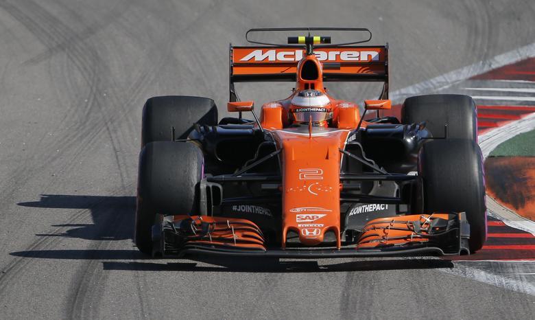 Formula One - F1 - Russian Grand Prix - Sochi, Russia - 30/04/17 - McLaren Honda Formula One driver Stoffel Vandoorne of Belgium drives during the race. REUTERS/Maxim Shemetov