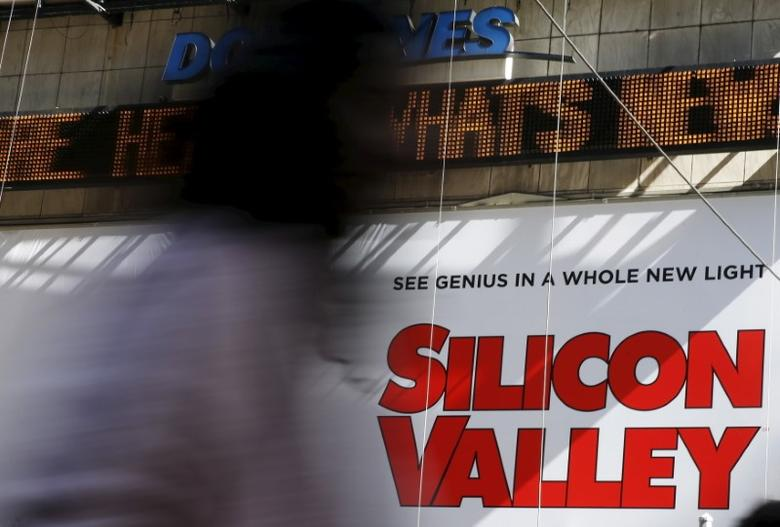 A billboard advertisement for the HBO series Silicon Valley is seen at Times Square in New York March 24, 2015.  REUTERS/Shannon Stapleton