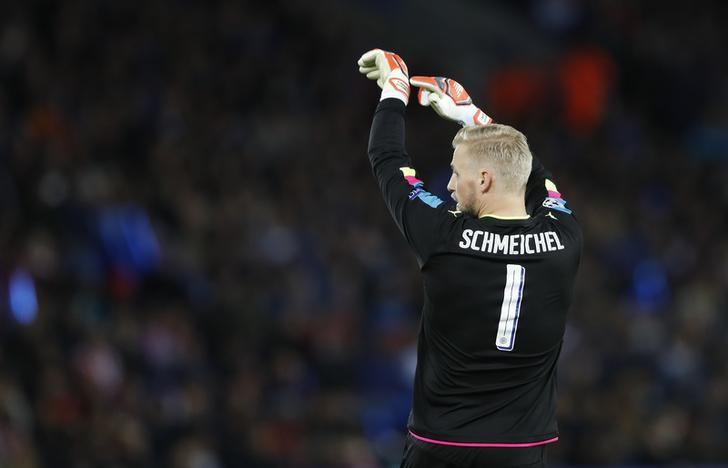 Britain Football Soccer - Leicester City v Atletico Madrid - UEFA Champions League Quarter Final Second Leg - King Power Stadium, Leicester, England - 18/4/17 Leicester City's Kasper Schmeichel Action Images via Reuters / Carl Recine/ Livepic/ Files