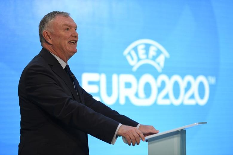 FILE PHOTO: Britain Football Soccer - UEFA EURO 2020 Launch Event - London City Hall - 21/9/16FA Chairman Greg Clarke during the launchAction Images via Reuters / Tony O'BrienLivepic