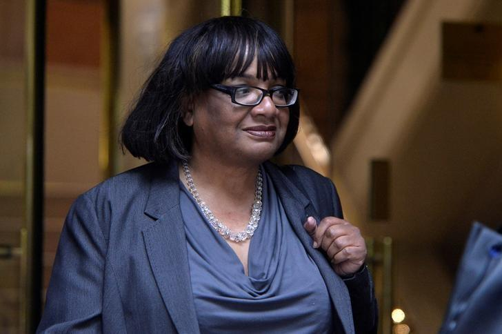 Britain's Opposition Labour Party Shadow Home Secretary Diane Abbott leaves Millbank studios in London, Britain, May 2, 2017. REUTERS/Hannah McKay