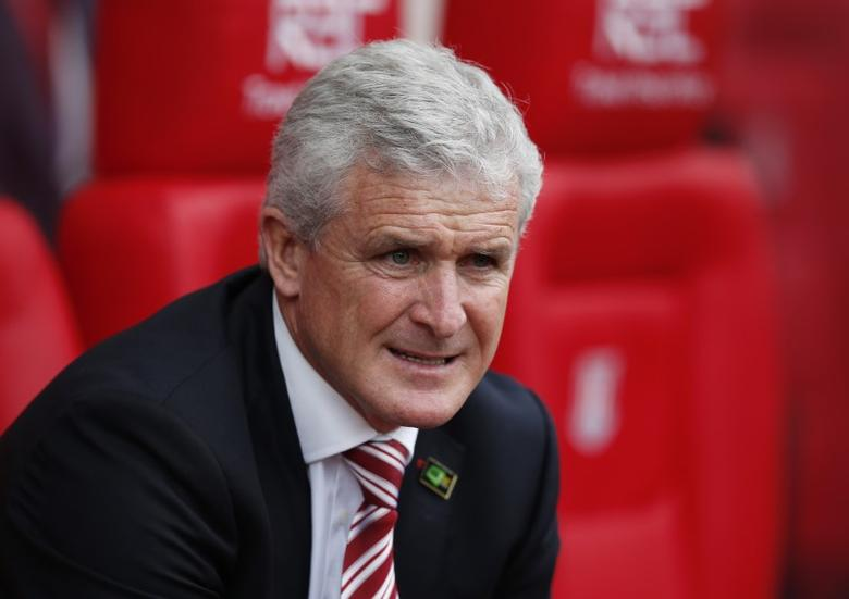 Britain Football Soccer - Stoke City v West Ham United - Premier League - bet365 Stadium - 29/4/17 Stoke City manager Mark Hughes Reuters / Andrew Yates/ Livepic/ Files