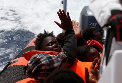 Migrant rescue on the Mediterranean