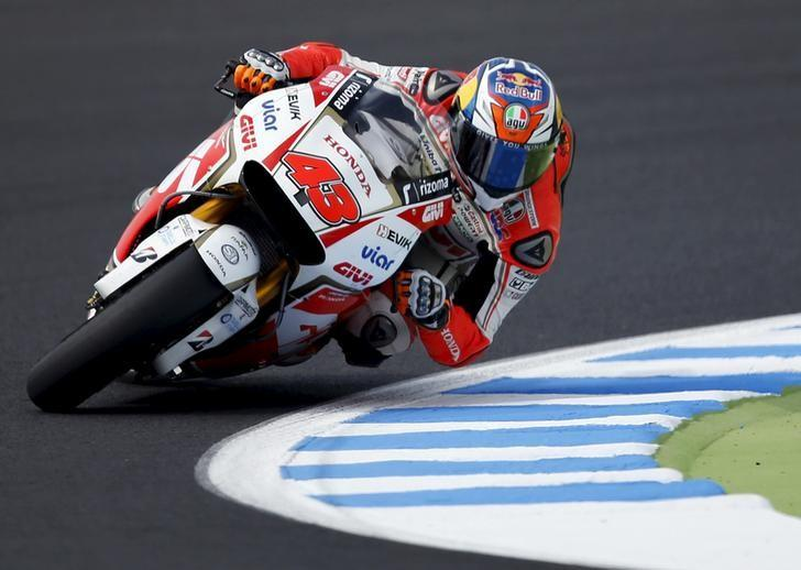 File Photo: Honda MotoGP rider Jack Miller of Australia rides during a free practice session at the Twin Ring Motegi circuit ahead of Sunday's Japanese Grand Prix in Motegi, north of Tokyo, Japan, October 10, 2015. REUTERS/Issei Kato