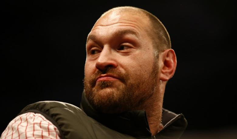 Britain Boxing - Billy Joe Saunders v Artur Akavov WBO World Middleweight Title - Lagoon Leisure Centre, Paisley, Renfrewshire, Scotland - 3/12/16 Tyson Fury before the fight Action Images via Reuters / Peter Cziborra/ Livepic/ Files
