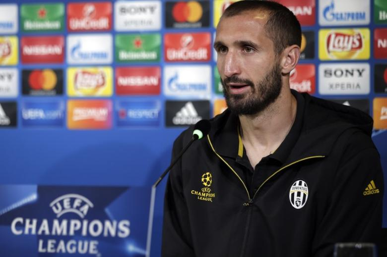 Football Soccer - Juventus News Conference - Juventus Stadium, Turin, Italy - 8/5/17. Juventus' Giorgio Chiellini during the news conference. REUTERS/Max Rossi