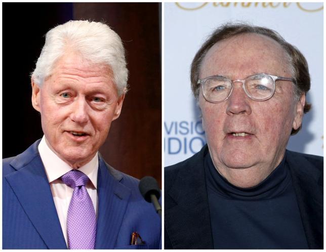 5月8日、ビル・クリントン元米大統領(写真左)はベストセラー作家ジェームズ・パターソン氏(右)と共同で、サスペンス小説「The President is Missing」(大統領は行方不明)を製作中で、2018年6月に発売される予定。出版社が明らかにした。写真は左が3月、右が2015年5月撮影(2017年 ロイター/Kevin Lamarque (L) and Danny Moloshok (R))