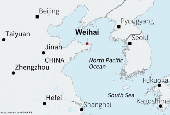 Weihai, in China's Shandong province
