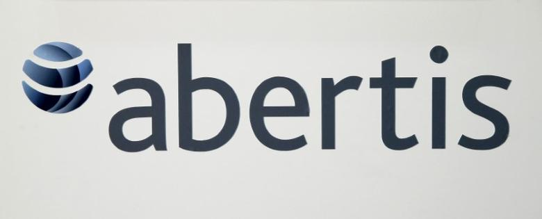 FILE PHOTO: Abertis's logo is seen during a news conference in Barcelona, Spain, April 12, 2016. REUTERS/Albert Gea/File Photo