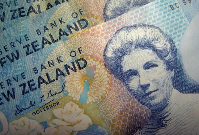 5月11日、ニュージーランド準備銀行(RBNZ、中央銀行)のマクダーモット総裁補は11日、ロイターのインタビューに応じ、この日の金融政策発表で、よりタカ派的な姿勢を示すと市場が予想していたことについて、 投資家やアナリストはインフレ期待を巡る「ノイズにまどわされる」ことがあってはならないと指摘した。写真はニュージーランド紙幣。2006年6月撮影(2017年 ロイター/Dennis Owen)