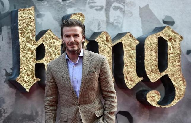 David Beckham poses at the European premiere of ''King Arthur: Legend of the Sword'' in London, Britain May 10, 2017.  REUTERS/Hannah McKay