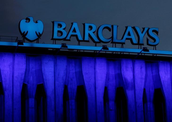 The logo of Barclays is seen on the top of a branch in Madrid, Spain, March 22, 2016. REUTERS/Sergio Perez/File Photo
