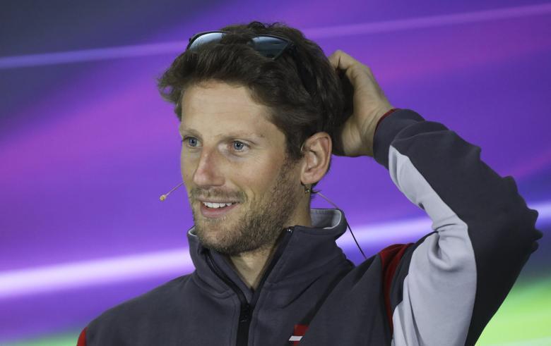 Formula One - F1 - Russian Grand Prix - Sochi, Russia - 27/04/17 - Haas Formula One driver Romain Grosjean of France attends a news conference. REUTERS/Maxim Shemetov