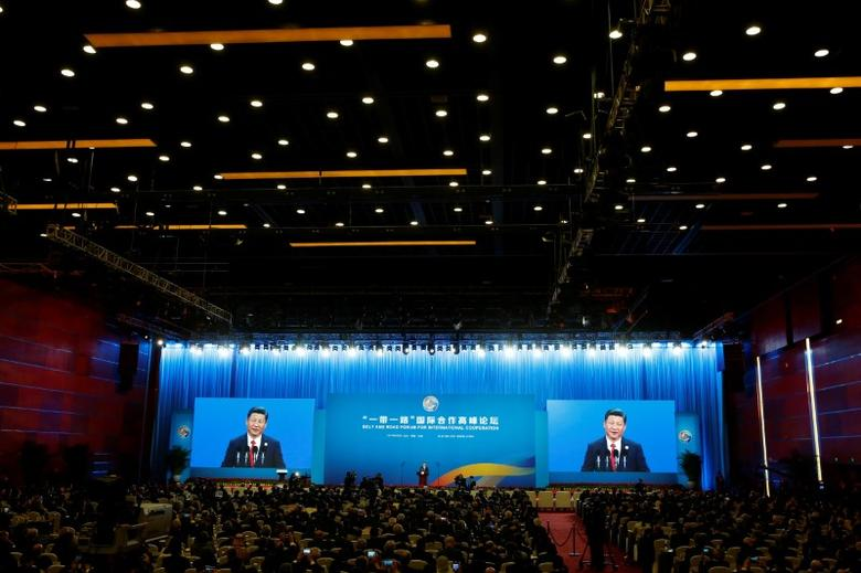 Chinese President Xi Jinping attends the opening ceremony of the Belt and Road Forum in Beijing, China, May 14, 2017.  REUTERS/Thomas Peter