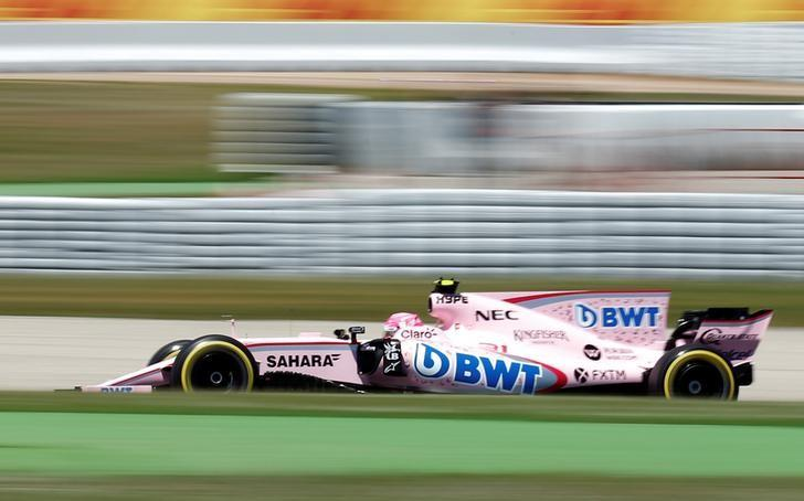 Formula One - F1 - Spanish Grand Prix - Barcelona-Catalunya racetrack, Montmelo Spain - 13/05/17 - Force India's Esteban Ocon in action during the qualifying session. REUTERS/Albert Gea