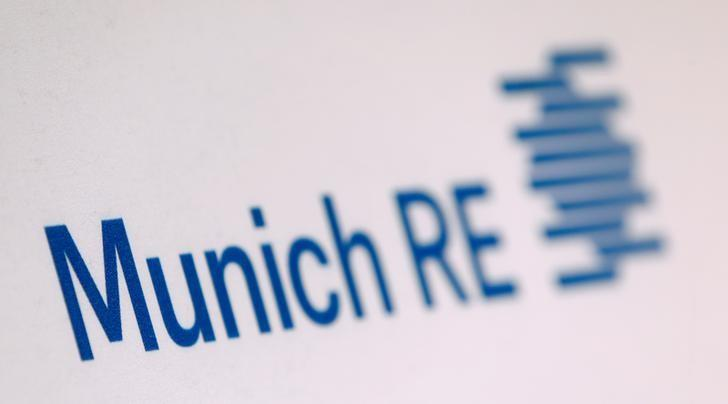 The company logo of German reinsurer Munich Re is seen before the company's annual news conference in Munich, Germany, March 16, 2016.  REUTERS/Michaela Rehle/File Photo