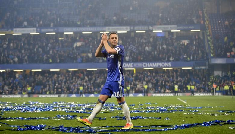 Britain Football Soccer - Chelsea v Watford - Premier League - Stamford Bridge - 15/5/17 Chelsea's John Terry applauds their fans after the match Reuters / Hannah McKay Livepic