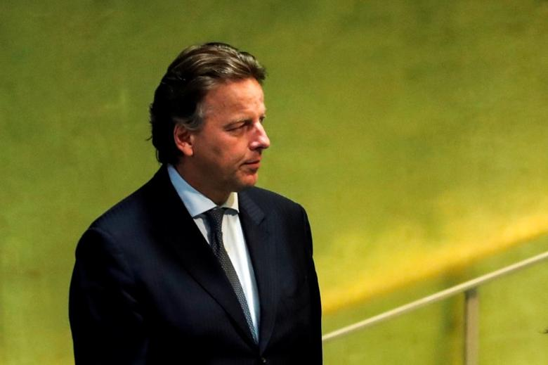 FILE PHOTO: Netherlands' Foreign Minister Bert Koenders arrives to addresses the United Nations General Assembly in the Manhattan borough of New York, U.S., September 22, 2016.  REUTERS/Eduardo Munoz