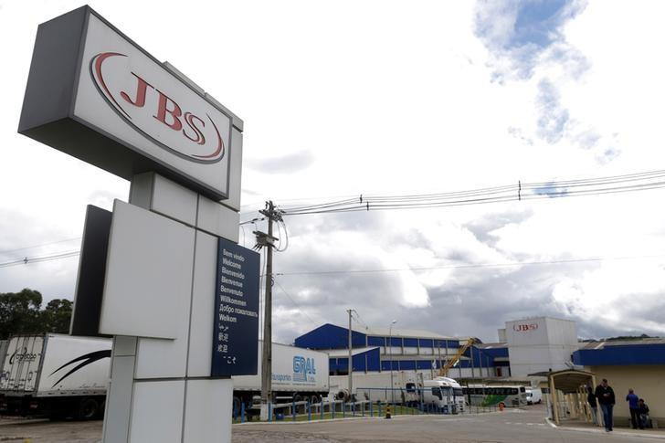 FILE PHOTO: General view of Brazilian meatpacker JBS SA in the city of Lapa, Parana state, Brazil, March 21, 2017. REUTERS/Ueslei Marcelino