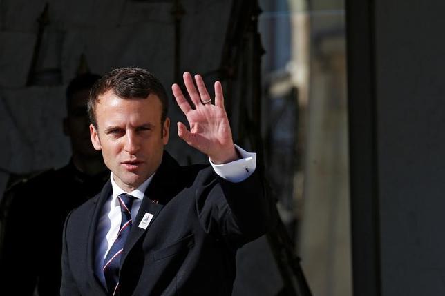 5月16日、フランスの新大統領マクロン氏は、パリの2024年五輪招致を支援するため、7月11日と12日にプレゼンテーションが行われるスイス・ローザンヌの国際オリンピック委員会(IOC)本部を訪問する意向を示した(2017年 ロイター/Gonzalo Fuentes)