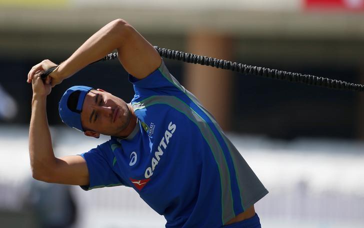 Cricket - India v Australia - Australia team practice session - Jharkhand State Cricket Association Stadium, Ranchi, India - 15/03/17 - Australia's Marcus Stoinis attends a practice session. REUTERS/Adnan Abidi/Files