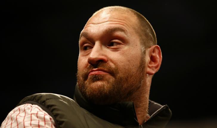 Britain Boxing - Billy Joe Saunders v Artur Akavov WBO World Middleweight Title - Lagoon Leisure Centre, Paisley, Renfrewshire, Scotland - 3/12/16 Tyson Fury before the fight Action Images via Reuters / Peter Cziborra Livepic