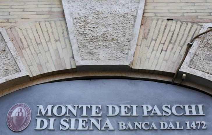 Monte Dei Paschi bank logo is seen in downtown Rome, Italy, January 21, 2016.  REUTERS/Max Rossi/Files