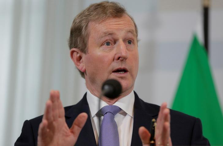 Ireland's Enda Kenny speaks during a news conference in the Hague, the Netherlands April 21, 2017. REUTERS/Michael Kooren/Files