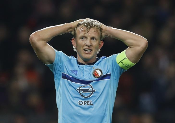 Britain Football Soccer - Manchester United v Feyenoord - UEFA Europa League Group Stage - Group A - Old Trafford, Manchester, England - 24/11/16 Feyenoord's Dirk Kuyt looks dejected  Action Images via Reuters / Carl Recine Livepic