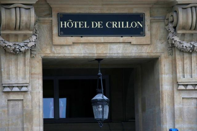 An exterior view shows the Hotel de Crillon, in Paris, France May 17, 2017. Paris's landmark Hotel de Crillon reopens in July after a four-year 200 million euro revamp.  Picture taken May 17, 2017.REUTERS/Gonzalo Fuentes