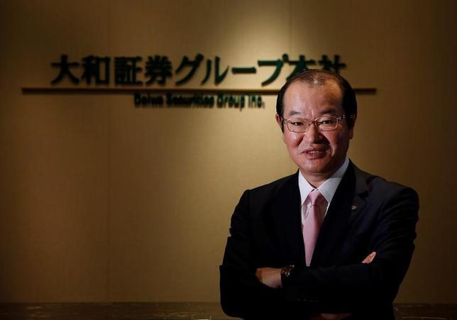 5月18日、4月1日付で新社長に就任した大和証券グループ本社の中田誠司社長・最高経営責任者(CEO)は、経営戦略説明会で、資本投下の優先順位について、株主還元を最優先で考えるとの意向を示した。写真は都内で2日撮影(2017年 ロイター/Toru Hanai)