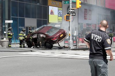 Car rams Times Square pedestrians