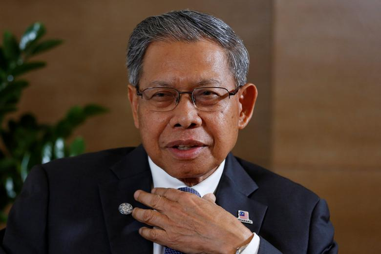 Malaysia's Trade Minister Mustapa Mohamed speaks during an interview with Reuters during the APEC trade ministers meeting in Hanoi, Vietnam May 19, 2017. REUTERS/Kham