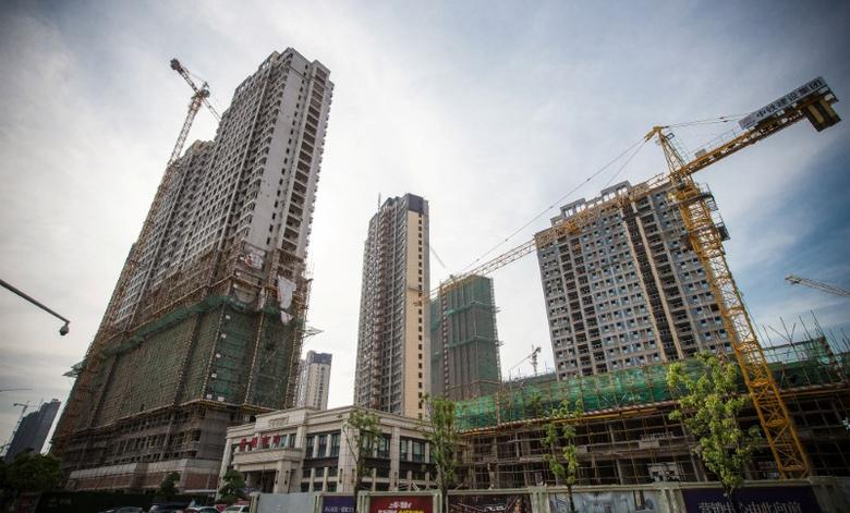 Residential buildings under construction are pictured in Nanjing, China May 18, 2017. China Daily/via REUTERS