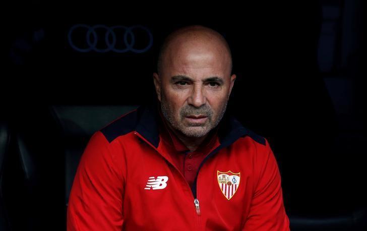 Football Soccer - Real Madrid v Sevilla - Spanish Liga Santander - Santiago Bernabeu, Madrid, Spain - 14/5/17Sevilla coach Jorge Sampaoli  Reuters / Sergio Perez